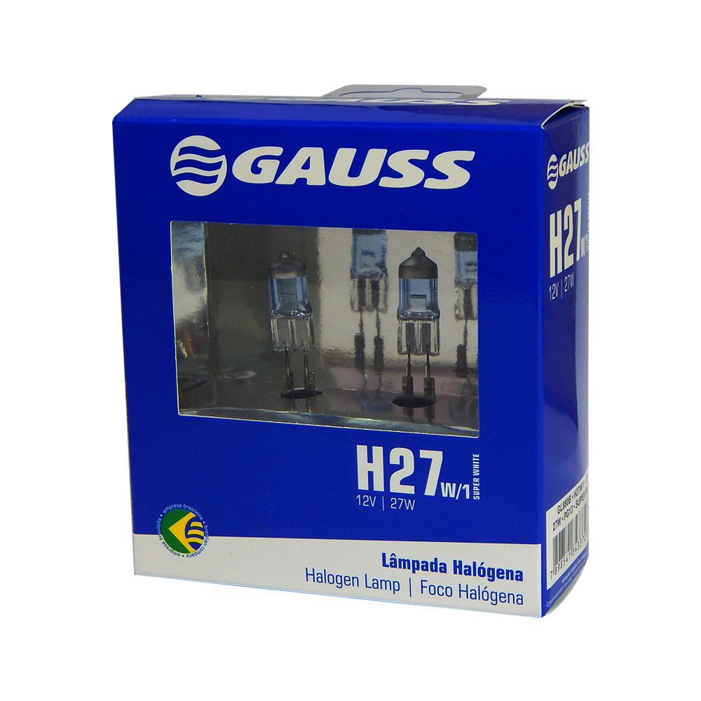 Lâmpada Automotiva Gauss Super Branca H27W 12V 27W