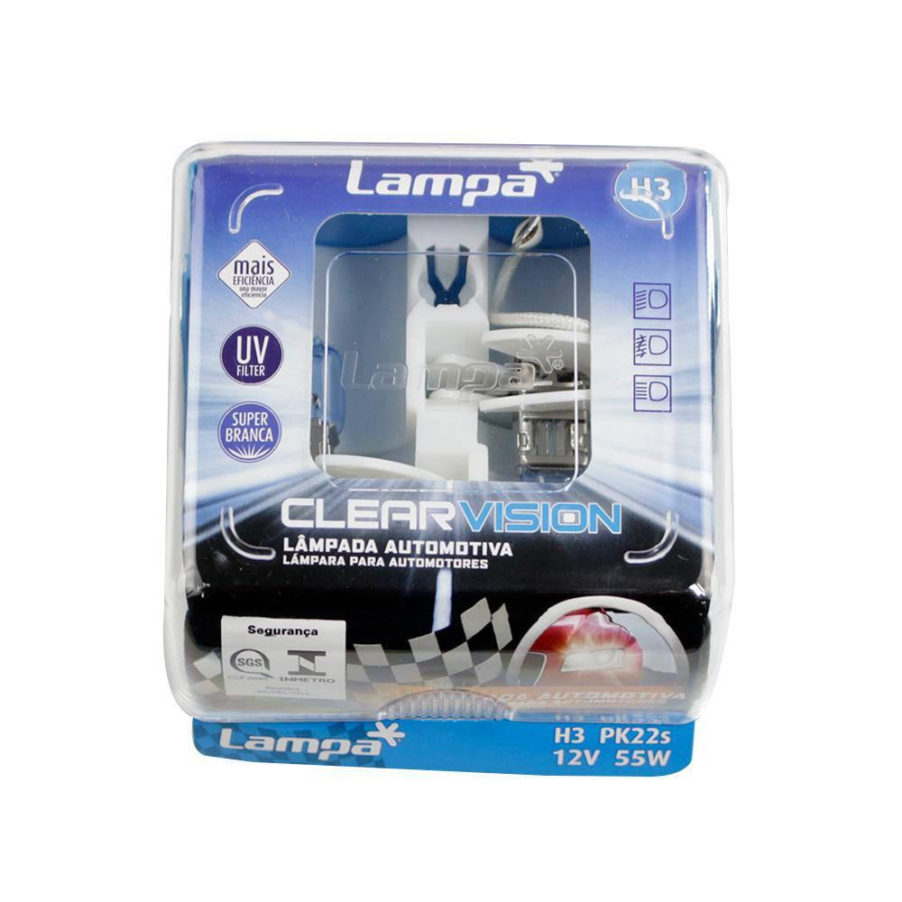Lâmpada Automotiva Lampa Super Branca H3W 12V 55W