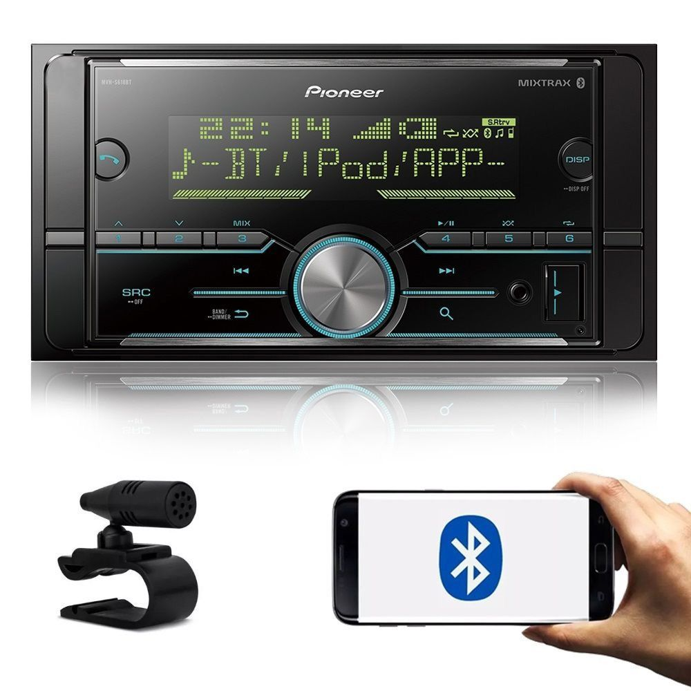 Media Receiver MP3 Player 2 DIN Pioneer MVH-S618BT Bluetooth