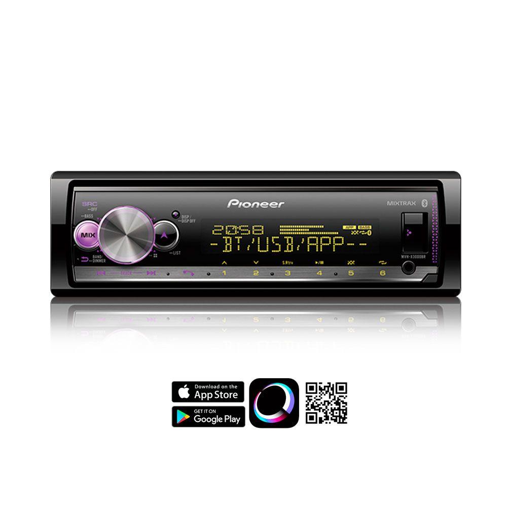 Media Receiver Pioneer MVH-X3000BR Bluetooth Spotify USB