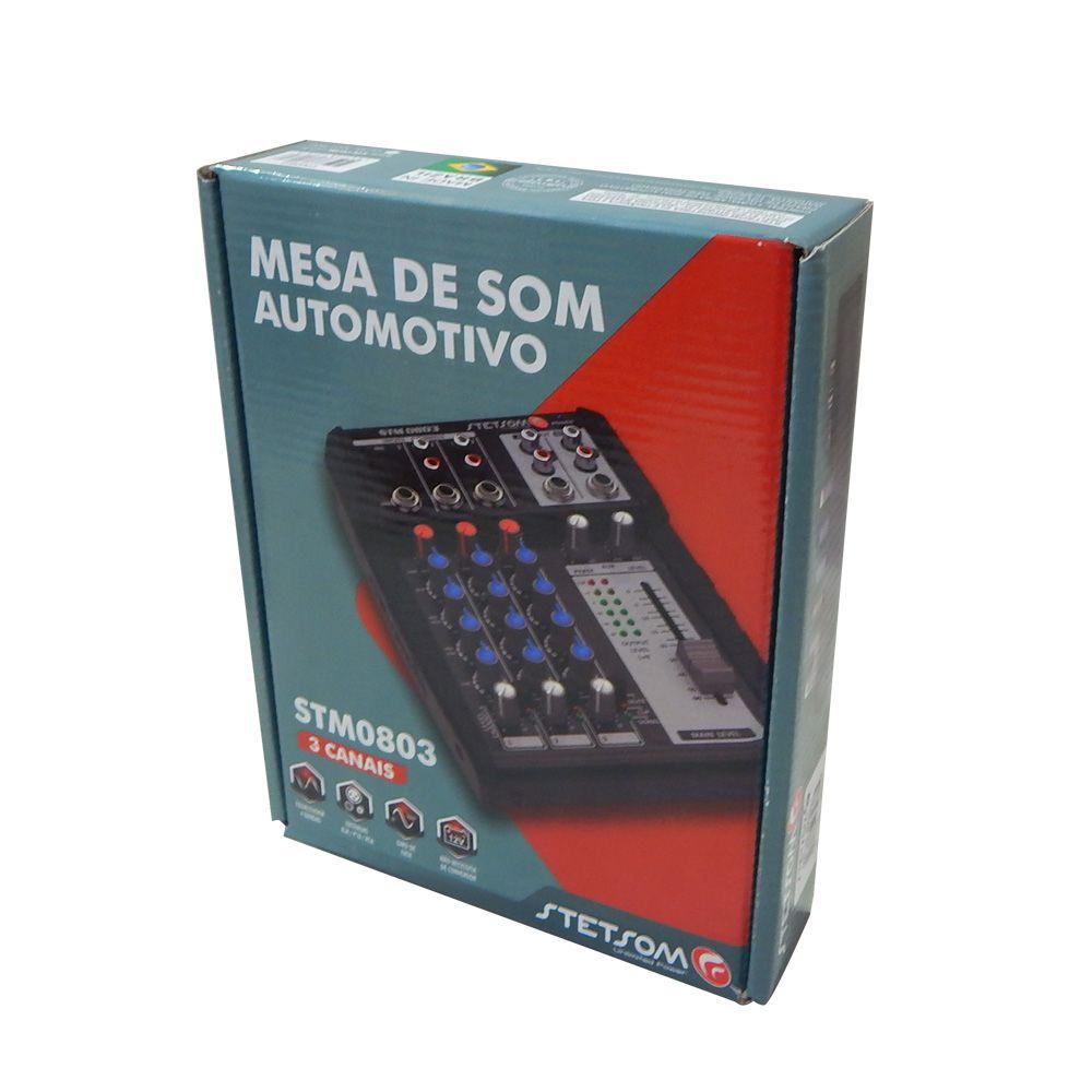 Mesa Som Digital Automotivo Stetsom Stm0803 3 Ch 4 Bandas