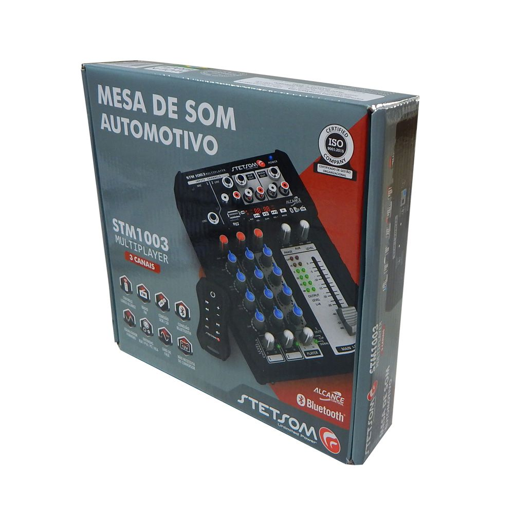 Mesa Som Digital Automotivo Stetsom Stm1003 3 Ch 4 Bandas