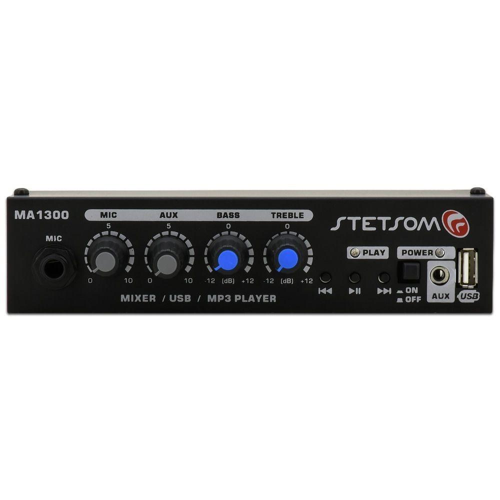 Mixer Automotivo Stetsom MA1300 – USB MIC AUX - Regulável
