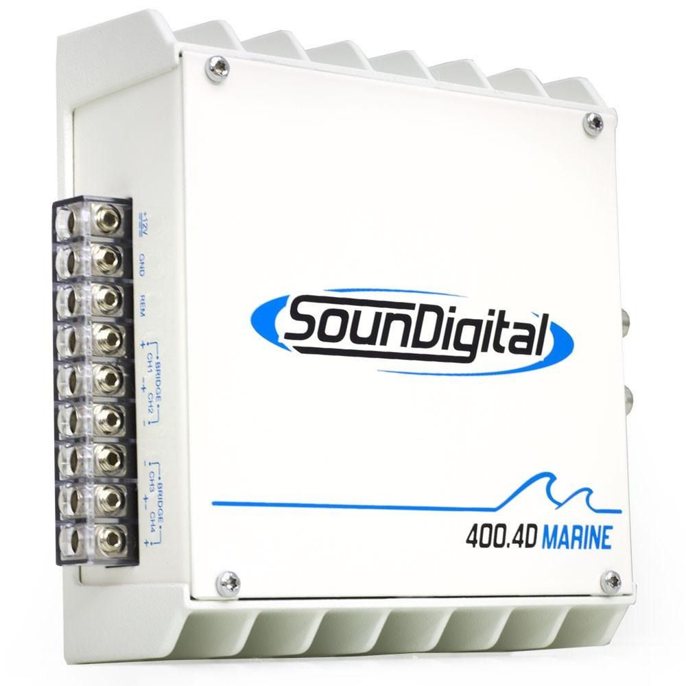 Módulo Amplificador Digital Soundigital SD400.4D Marine - 4x 100w – 4 ohms