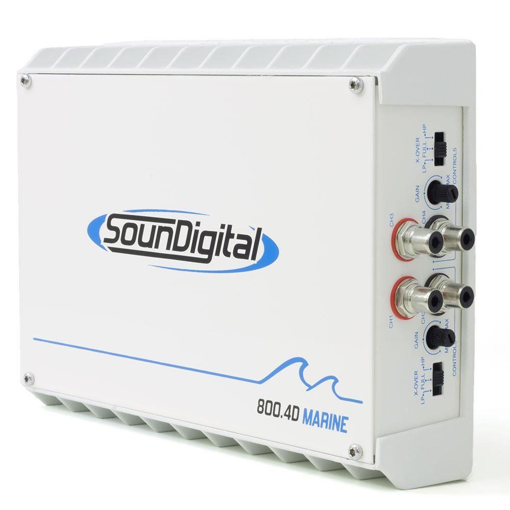 Módulo Amplificador Digital Soundigital SD800.4D Marine - 4x 200w – 1 ohm
