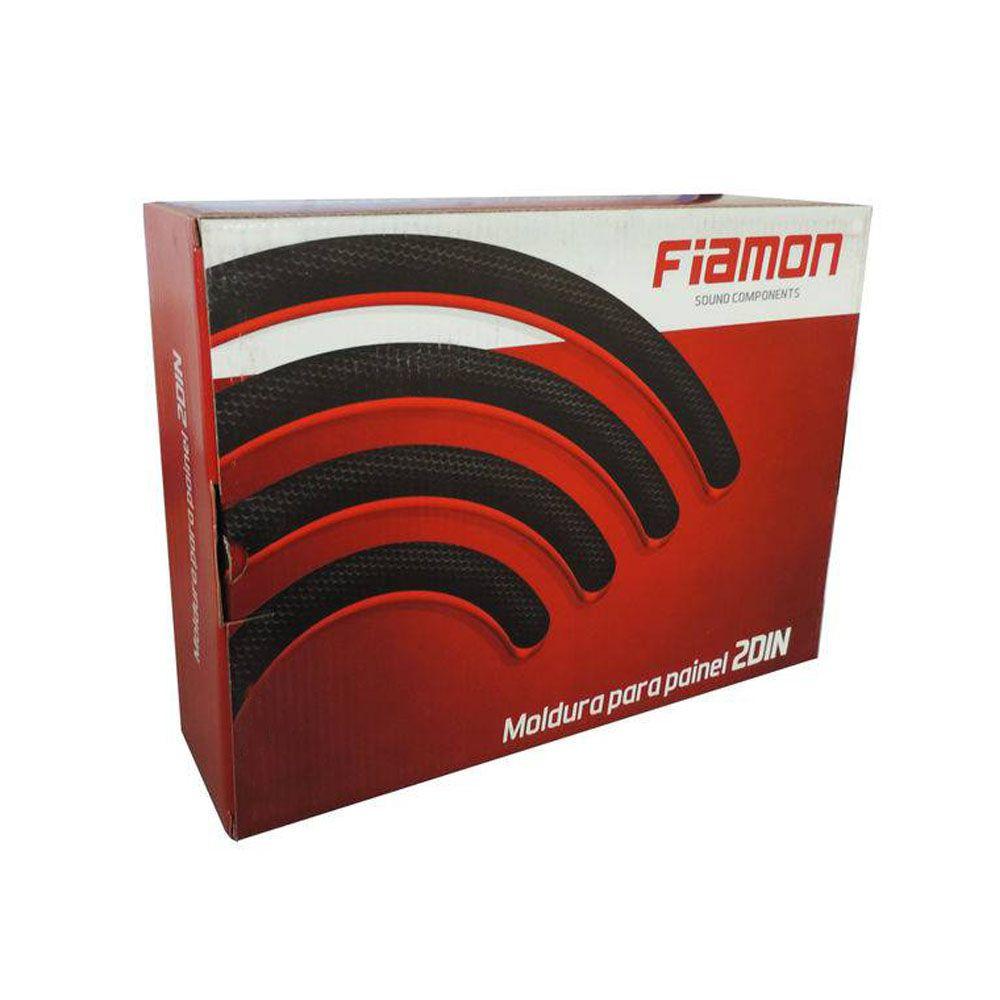 Moldura de Painel Fiamon 2 DIN Fiat Mobi – Preta