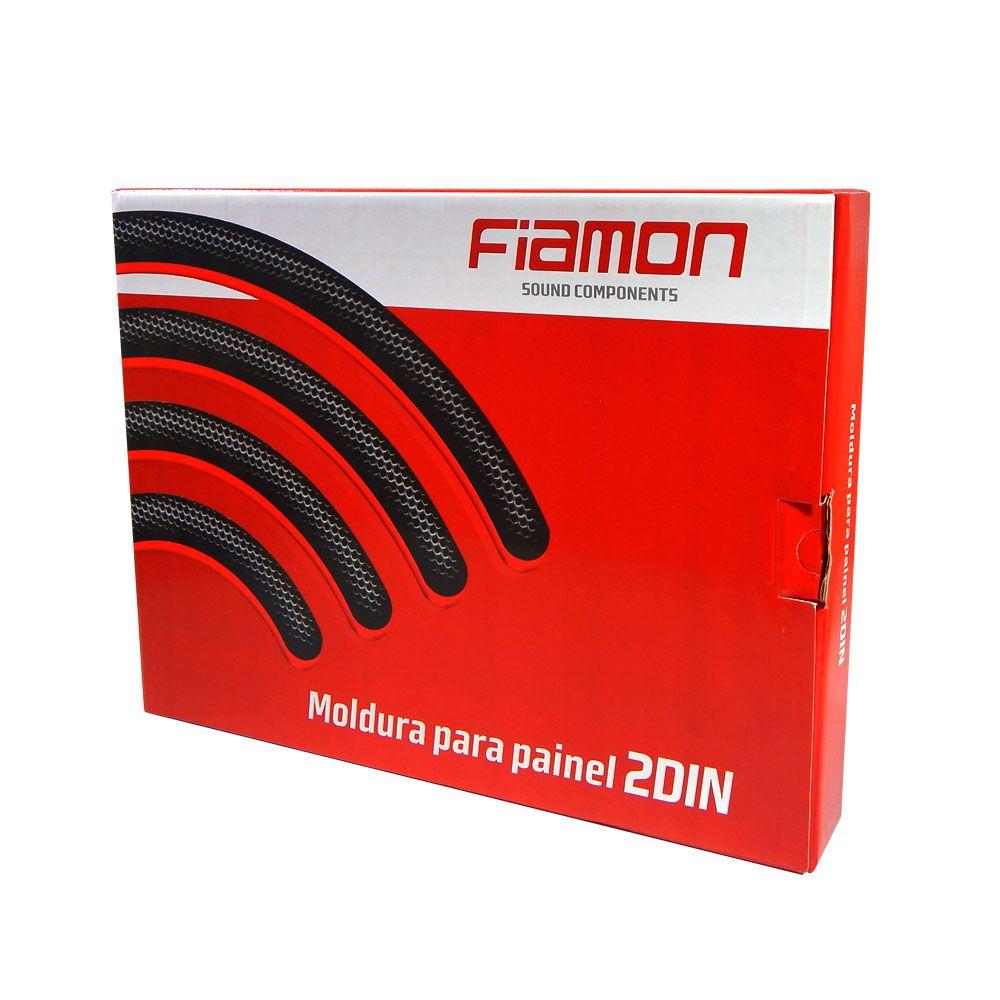Moldura de Painel Fiamon 2 DIN Gol, saveiro e parati g2 (bola) – Preta