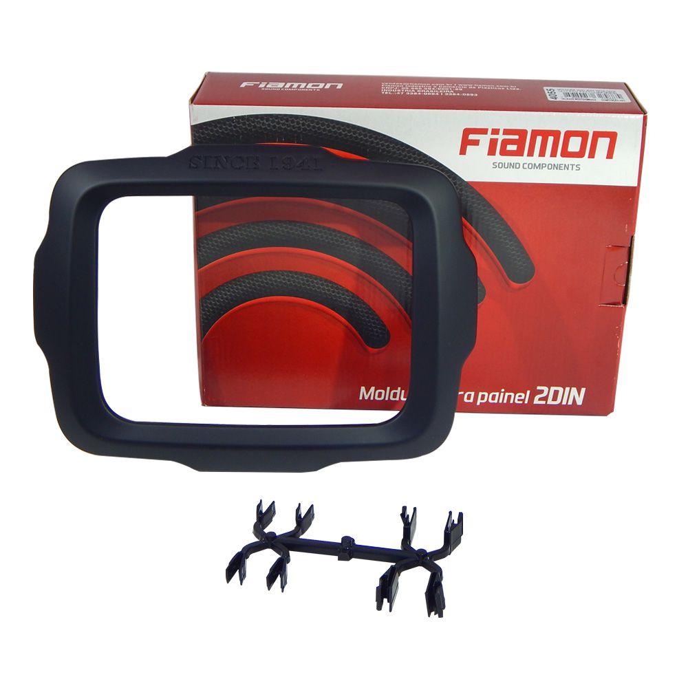 Moldura de Painel Fiamon 2 DIN Jeep Renegade 14/17 – Preto Fosco