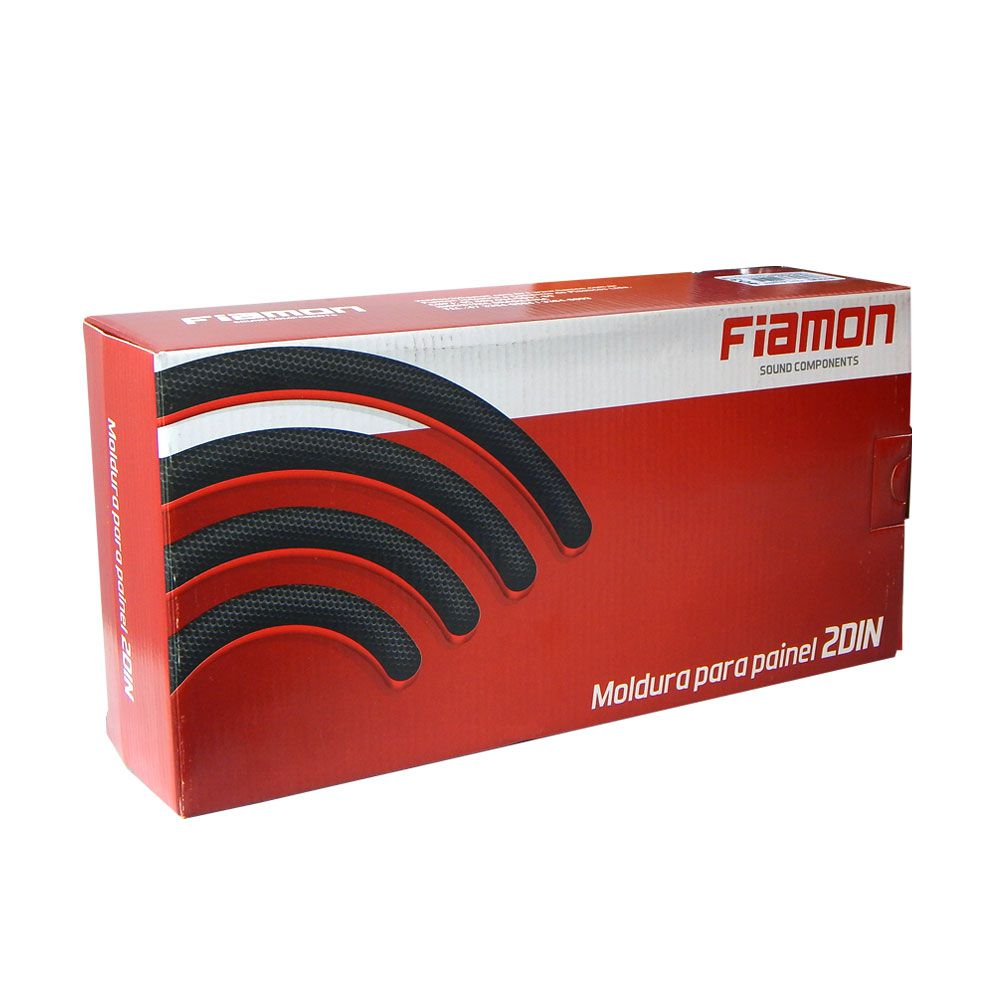 Moldura de Painel Fiamon 2 DIN Nissan Frontier 17 a 18 – Black Piano