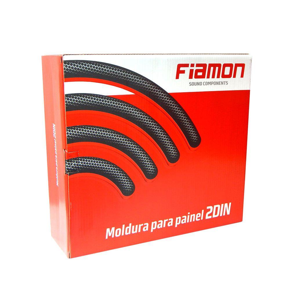 Moldura de Painel Fiamon 3215 2 DIN Fiat Palio, Strada, Adventure, Weekend, Siena ano 2012 - Grafite