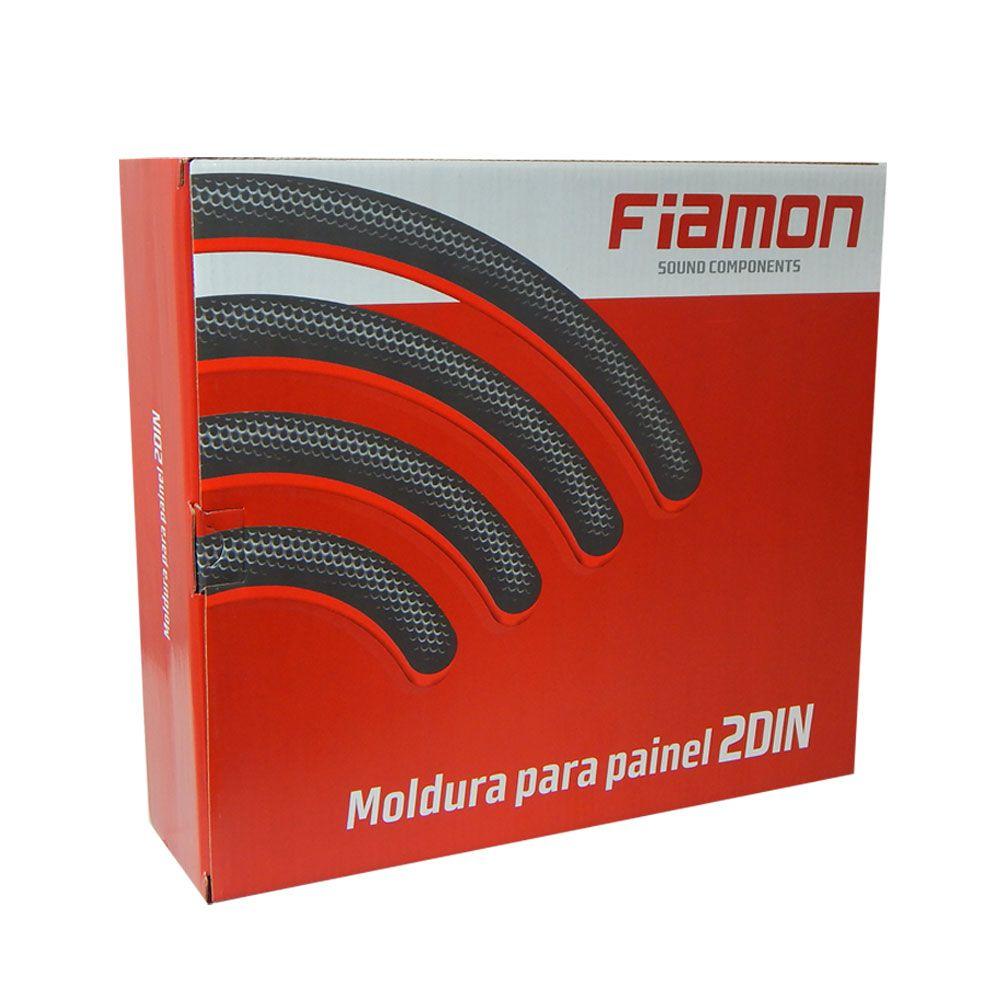 Moldura Fiamon 2 DIN Fiat Palio Way ano 2014 a 2016 – Grafite