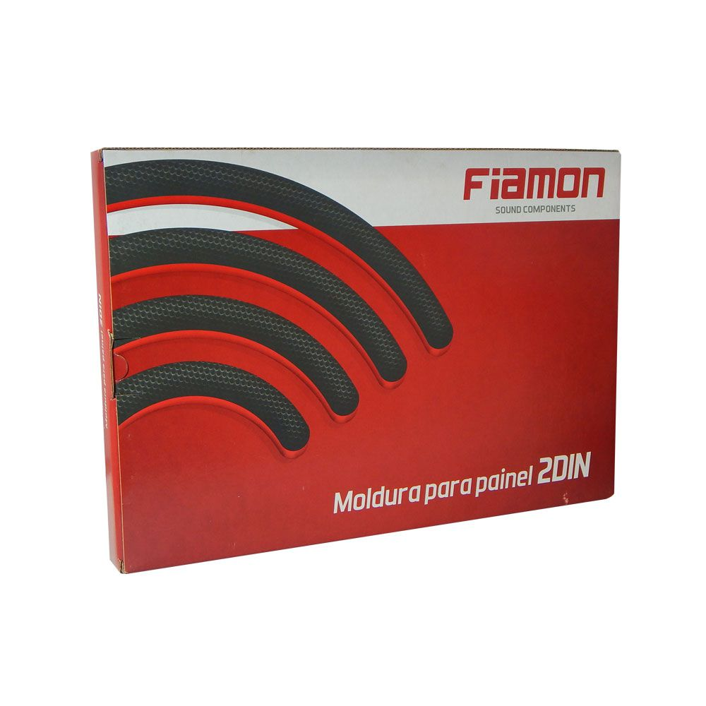 Moldura Fiamon 2 DIN Troller 2009 a 2013 - Branca
