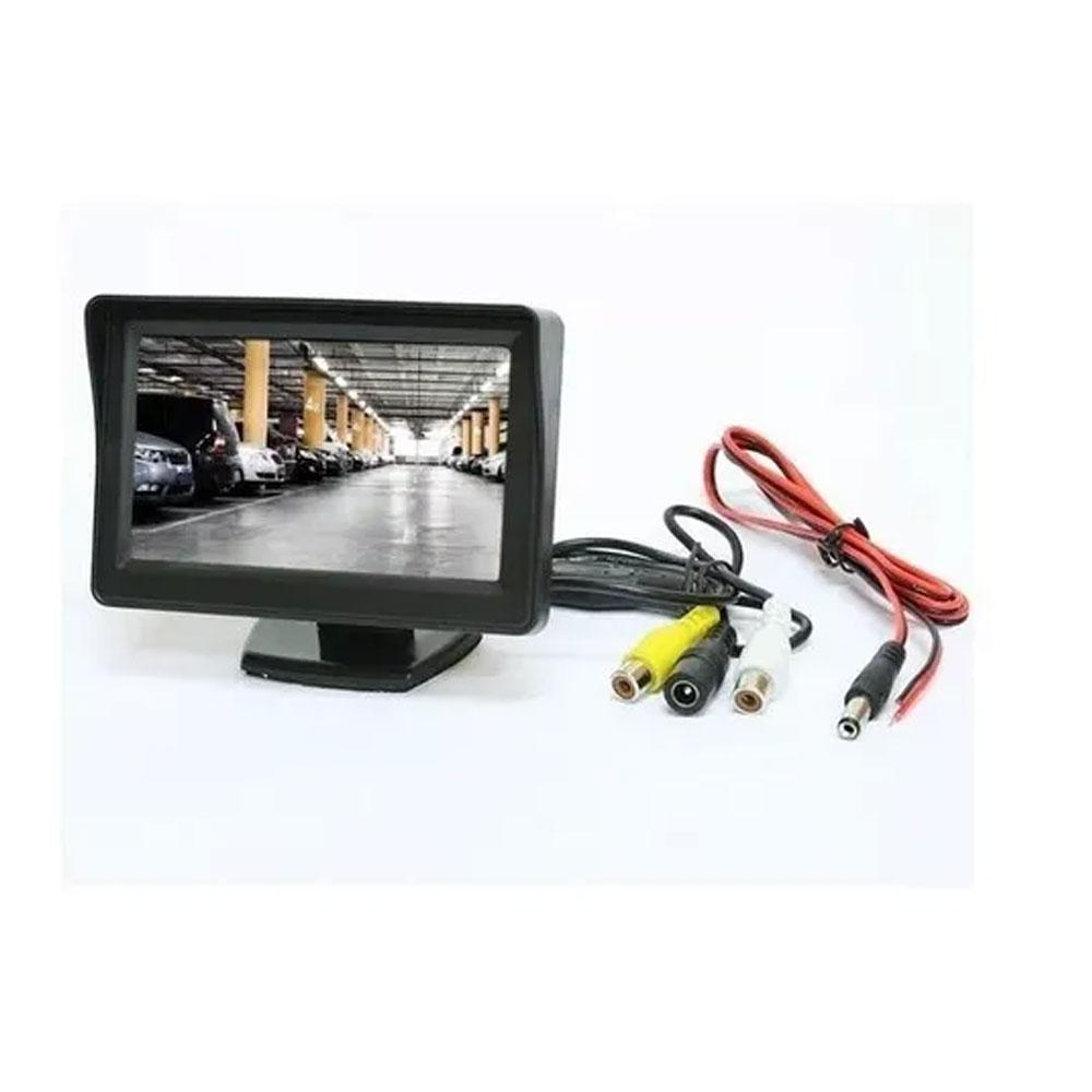 "MONITOR VEICULAR RAY X C/ TELA LCD 4.3"" ACIONAMENTO AUTOMÁTICO (RES. 960X240) - 12V -  CÓD. 198 (M-C4.3) - TELA AVULSA"