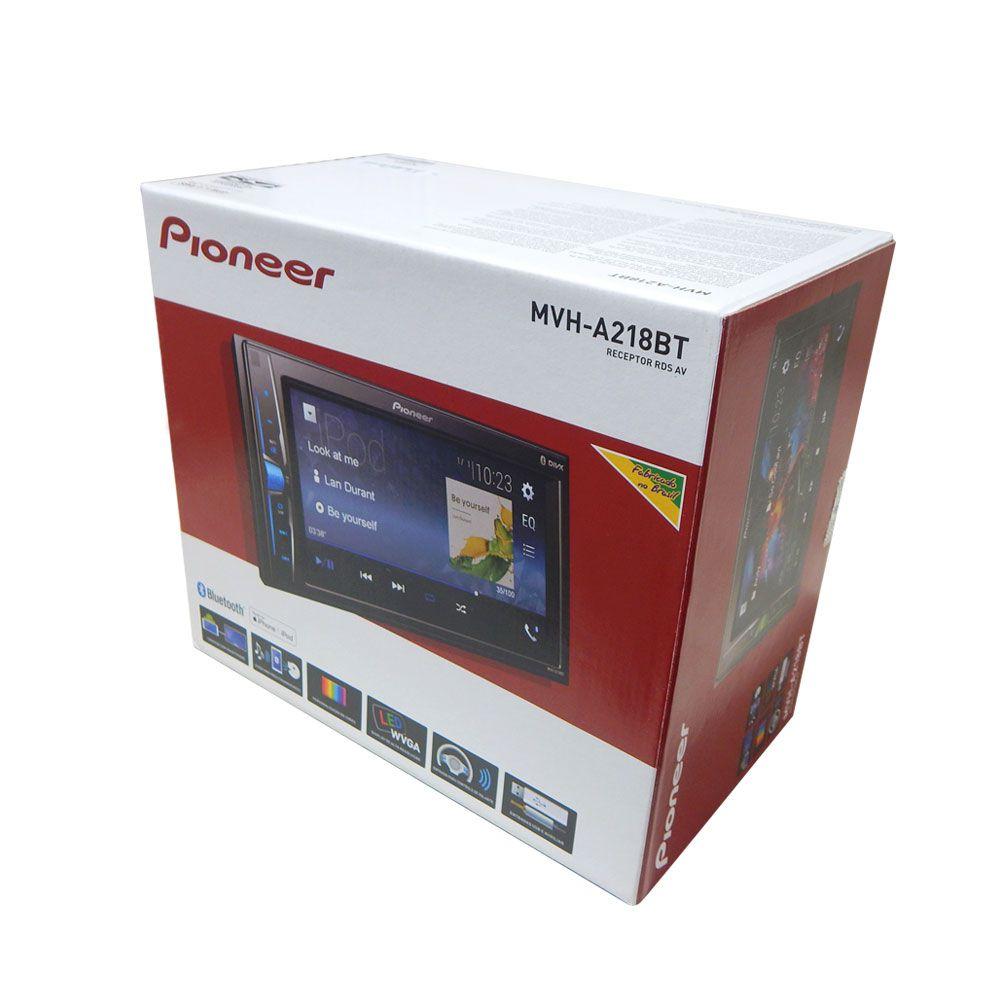 Multimídia 2 Din Player Pioneer MVH-A218BT c/Espelhamento