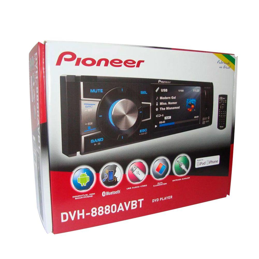 Multimidia Receiver Pioneer 1 Din Dvh-8880AVBT