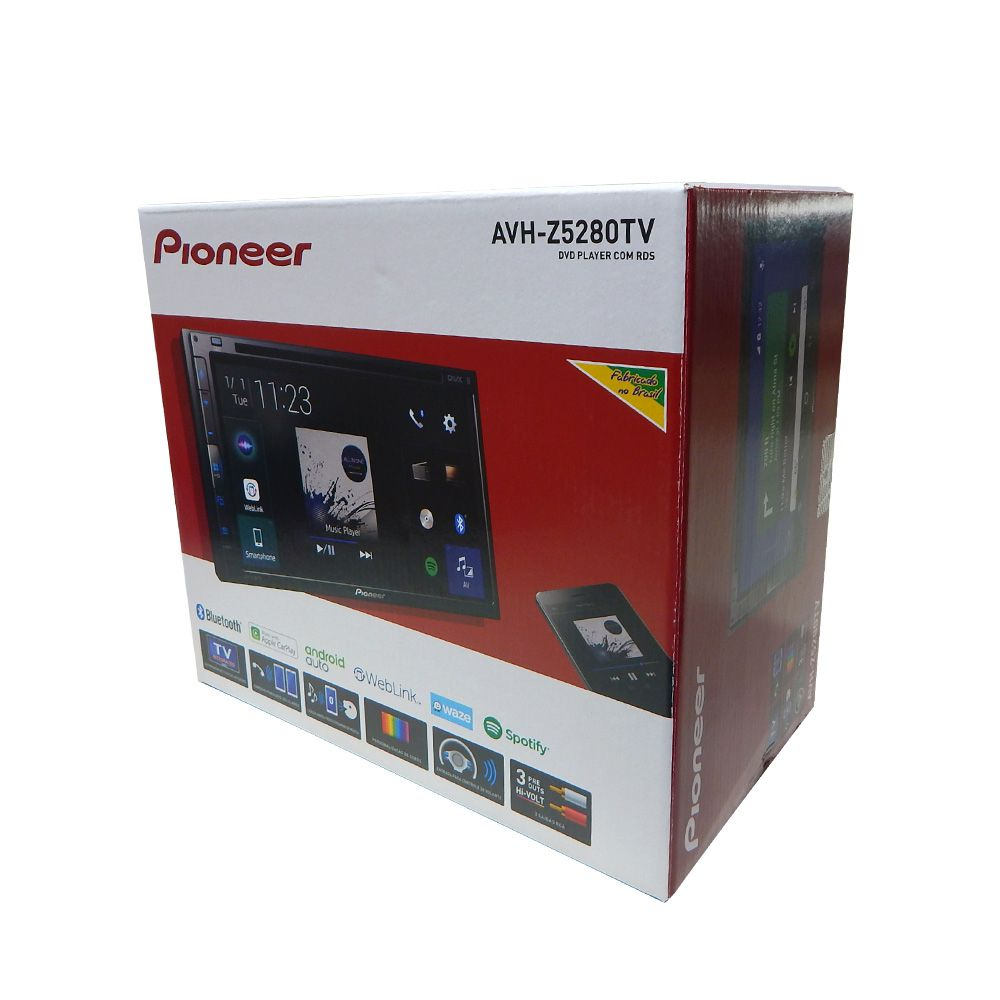 Central Multimidia Pioneer 2 Din AVH-Z5280TV c/ DVD/BT