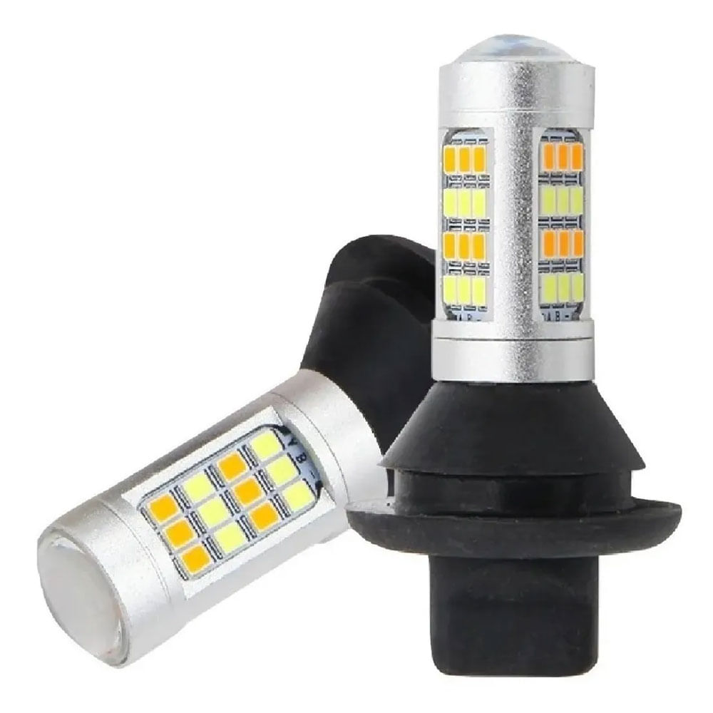 PAR DE LEDS DRL P/ SETA RAY X 1 POLO (1156) - 20 WATTS / LUZ DIURNA C/ PISCA / 1.000 LÚMENS / CANCELLER - DRLSETA-1156