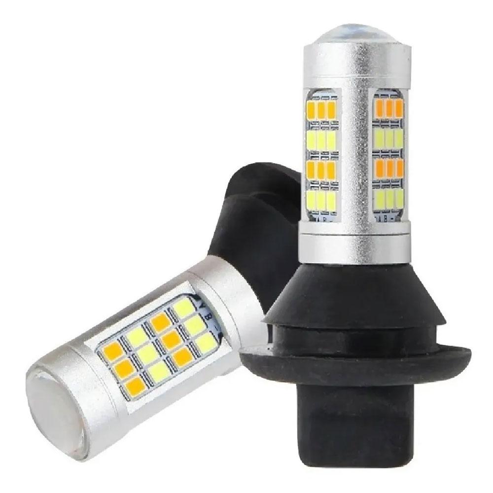 PAR DE LEDS DRL P/ SETA RAY X T20 (IMPORTADOS) - 20 WATTS / LUZ DIURNA C/ PISCA / 1.000 LÚMENS / CANCELLER - DRLSETA-T20
