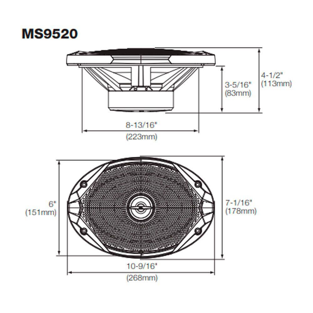 Par Falantes 6x9 Jbl Marine Ms9520 Náutico - 300w Marítimo