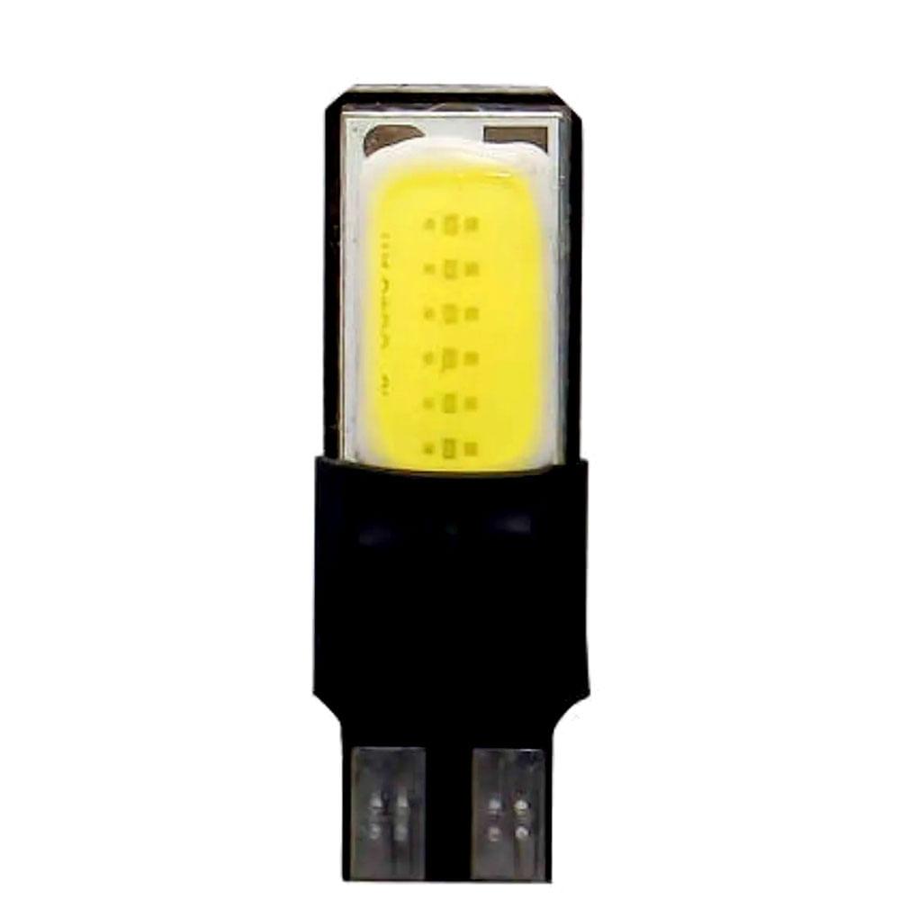 PAR LAMPADA PINGO SUPER LED ESMAGADO T10 COB TIGER 12V - PINGO GRANDE W5 - C/ LEDS SUPER COB 6000K - TG-10.14.009