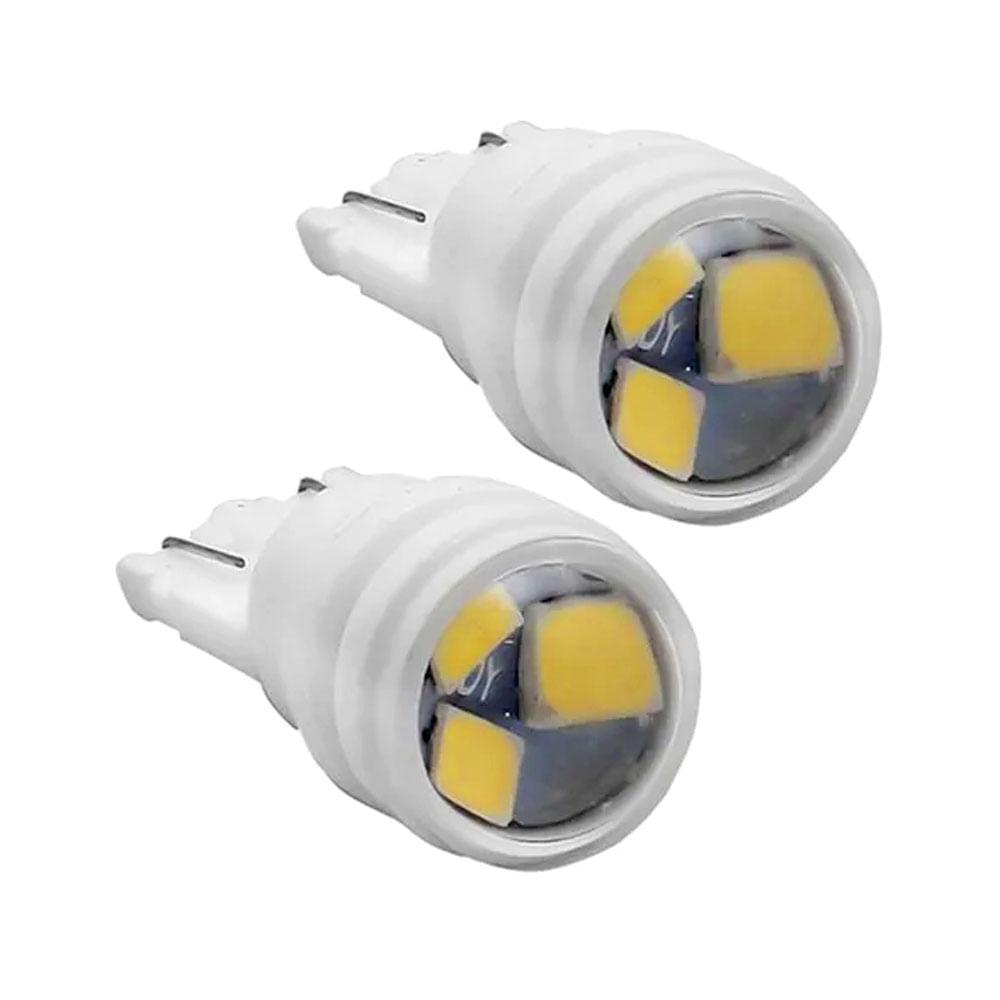 PAR LAMPADA T10 COB TIGER LED CREE 12V C/ LENTES - PINGO GDE W5 - C/ 3 LEDS SMD CREE SUPER BRANCO 6000K - TG-10.14.011