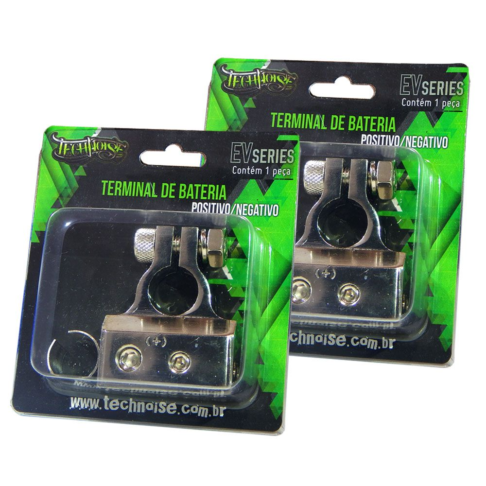 Par Terminais De Bateria Technoise Ev Series 4 Vias Pos / Neg