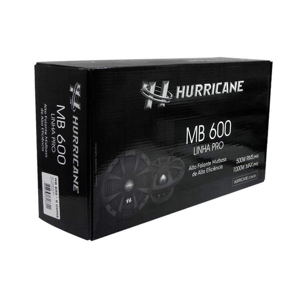 "Par Woofer Midbass 6"" Hurricane PROMB600-8 - 500W RMS 8 ohms"