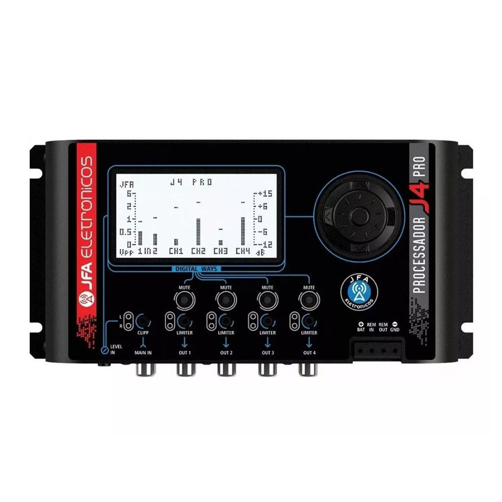 Processador de Áudio Digital JFA J4 PRO