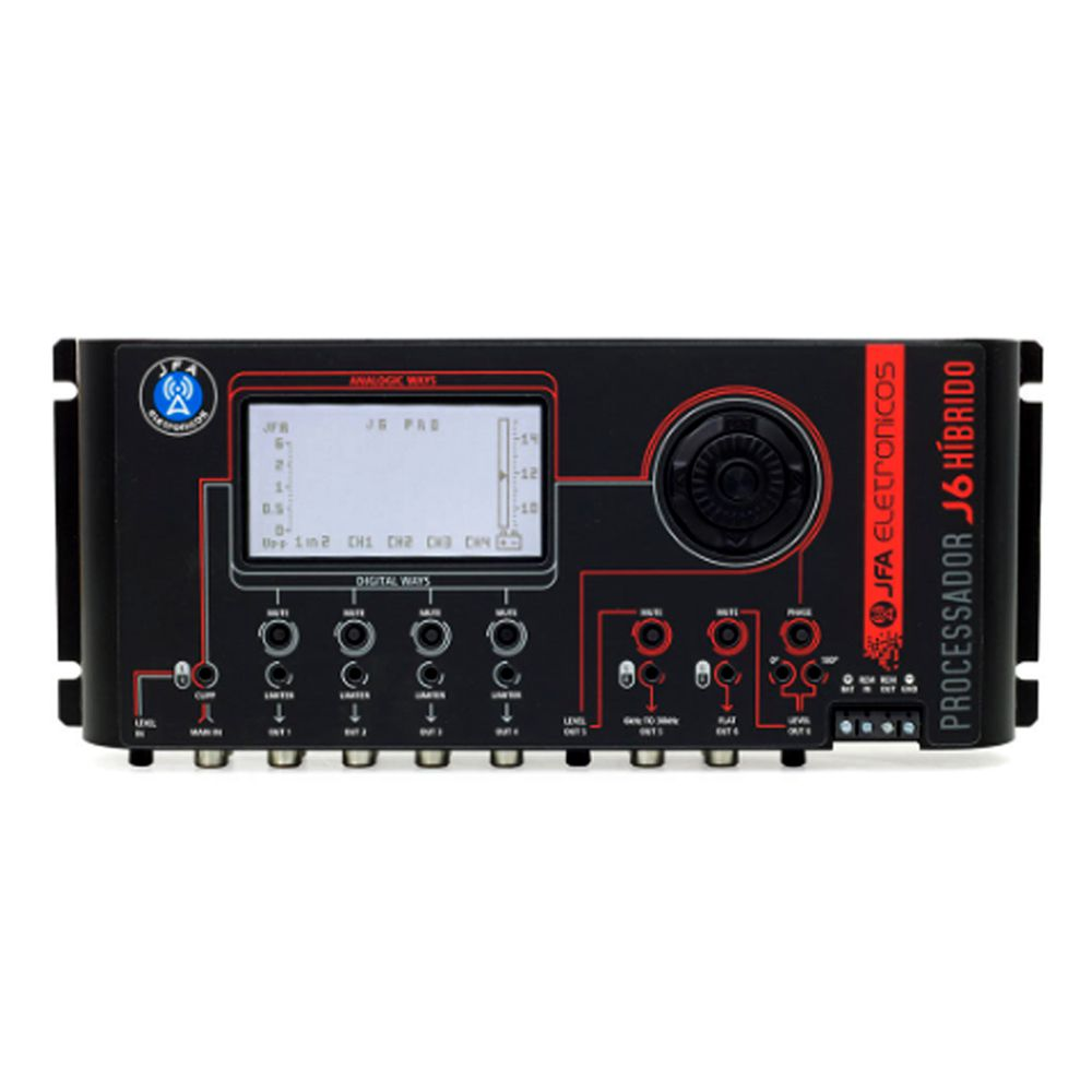 Processador de Áudio Digital JFA J6 Híbrido