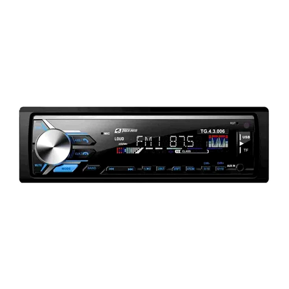 RÁDIO MP3 C/ BLUETOOTH TIGER TG-4.3.006 C/ CONTROLE - 4X45W / 2 PARES RCA / USB / SD CARD / RCA / AUX. P2 0403006