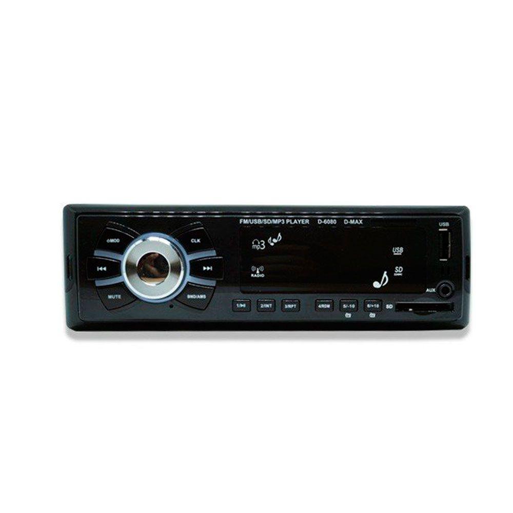 Rádio MP3 Player Automotivo D-Max D-6080 - USB / Aux/Sd