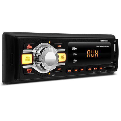 Rádio MP3 Player Hurricane HR412 com USB - AUX - SD - FM