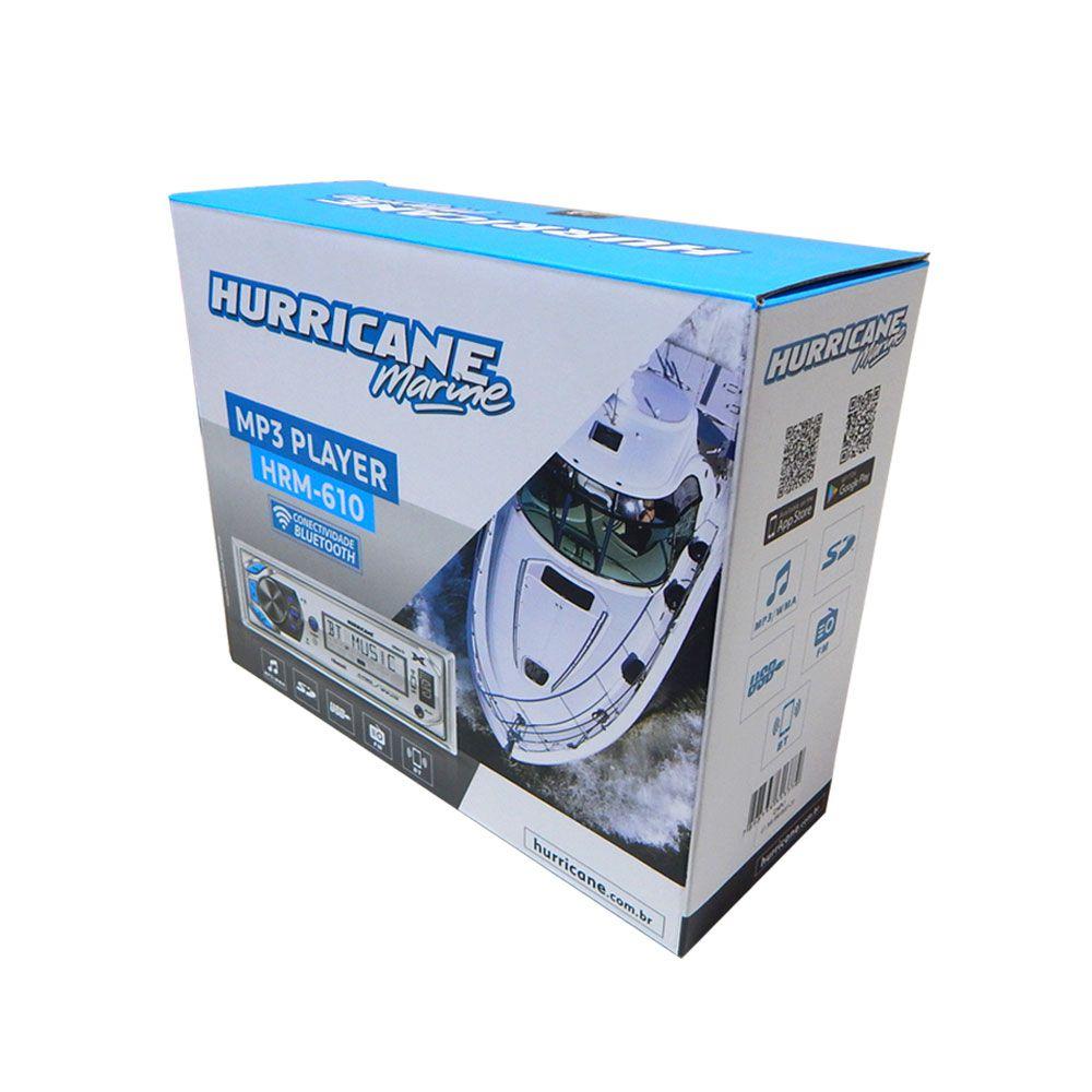 Media Player Receiver Hurricane Marine HRM-610 Bluetooth