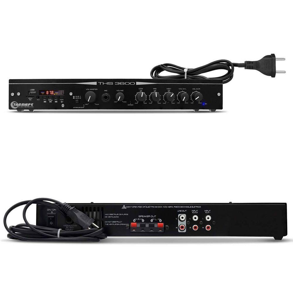 Receiver Taramps THS 3600 – Bluetooth - AUX - USB - Micro SD