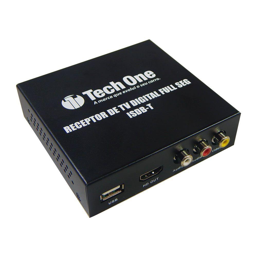 Receptor de Tv digital full HD Automotivo Tech One