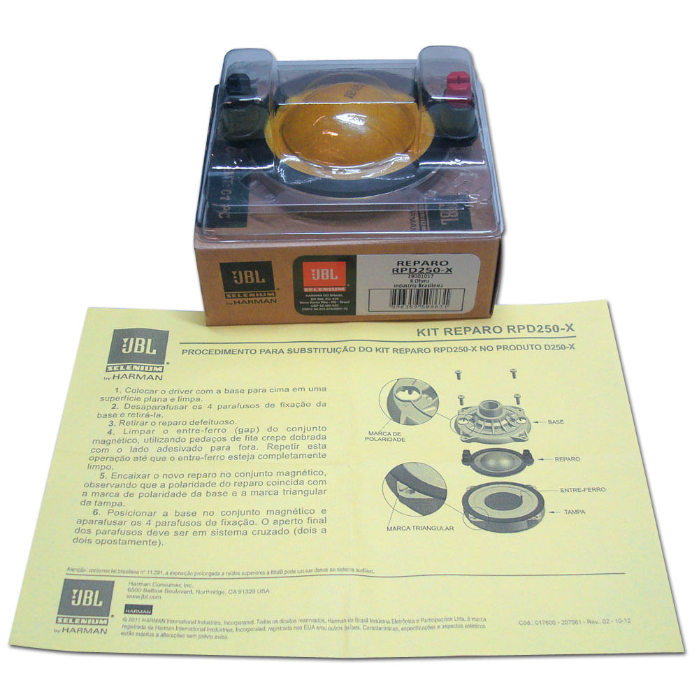 Reparo Original JBL Selenium RPD250-X - para D250-X - RPD250-X