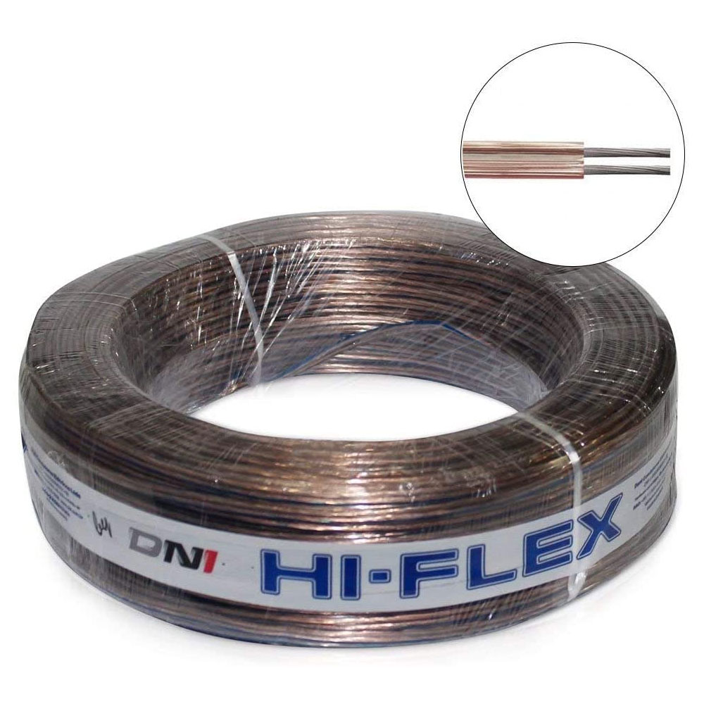 Rolo 100m Fio Paralelo 2x1,50mm 100% Cobre Dni Hfx2x14