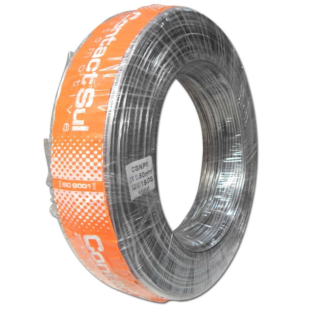 Rolo 100m Fio Paralelo Náutico Contactsul 2x2,50mm Estanhado - Fio Náutico 2x 2,5mm - CSNPR 2X12C - MARINE
