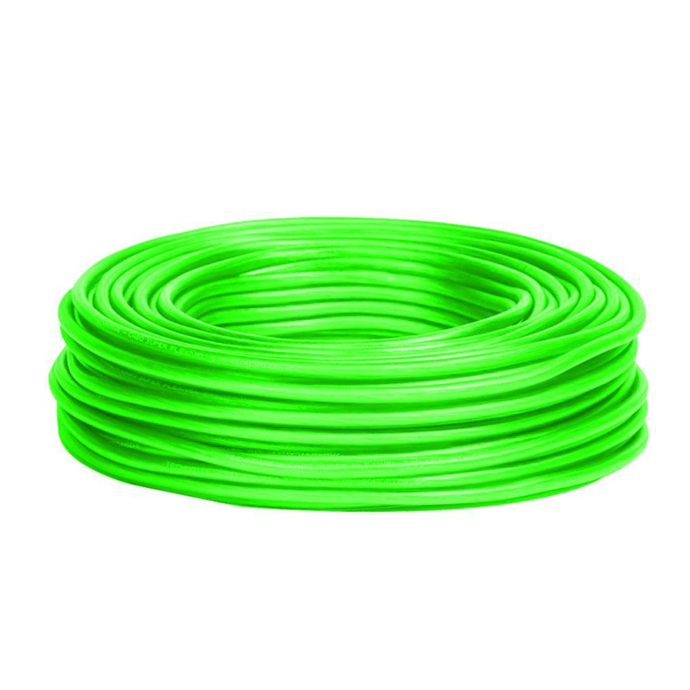 Rolo 50m - Cabo de Alimentação Technoise 9mm² - 100% Cobre – Verde
