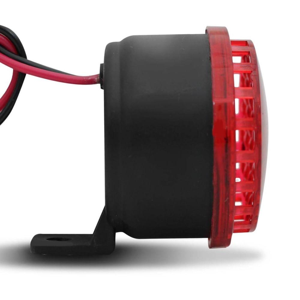 Sirene Piezo Techone 6 Tons Com LED 12V Universal P/ Marcha Ré - Z-0265 - SIRENE LED