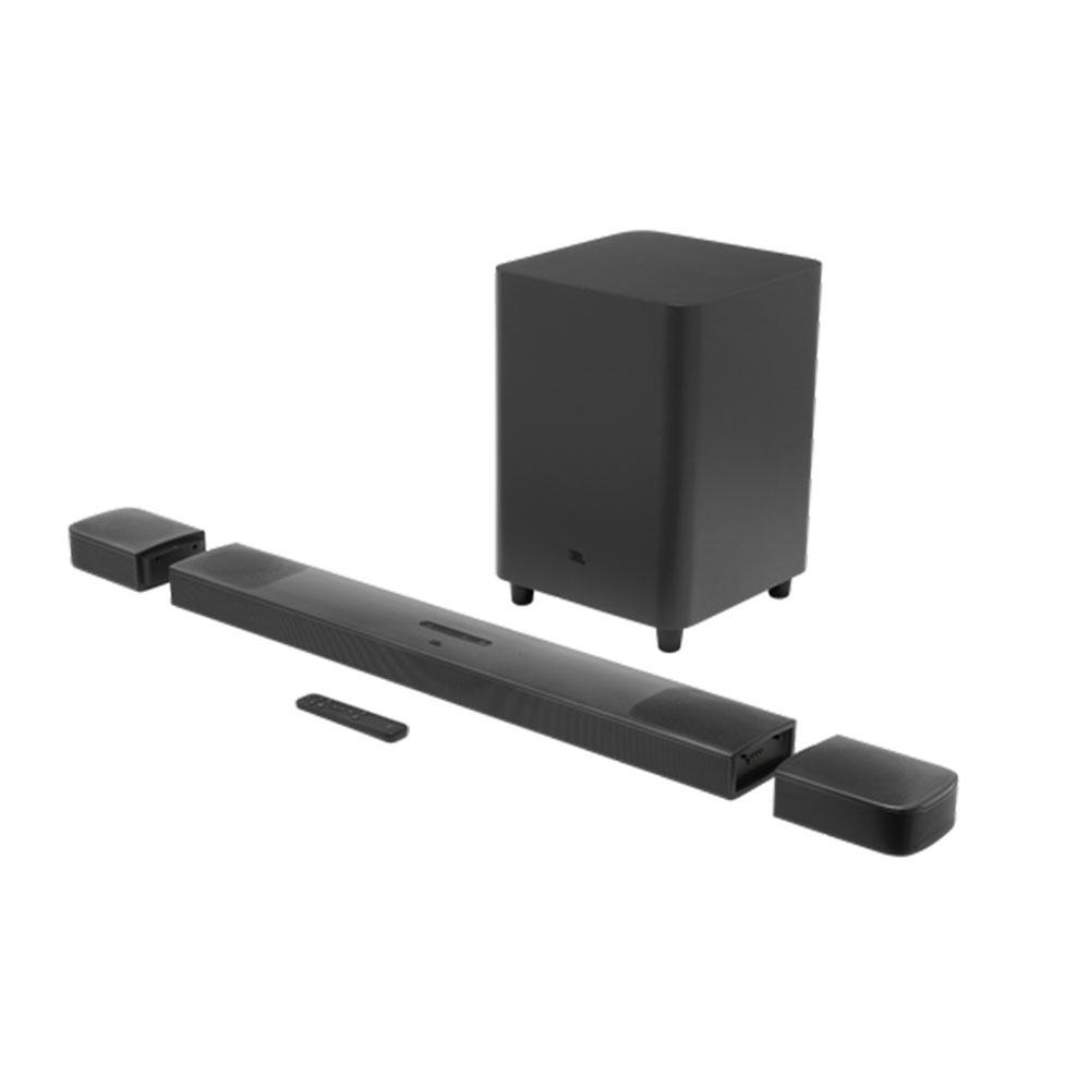 "SOUNDBAR JBL BAR 9.1 TRUE WIRELESS SURROUND DOLBY ATMOS® 4K - SOM 3D 9.1 CANAIS / 410W RMS / SUB 10"" - JBLBAR913DBLKBR"