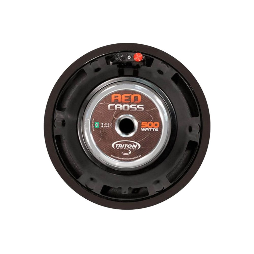 "Subwoofer 10"" Triton Red Cross 500W RMS – 4 Ohms"