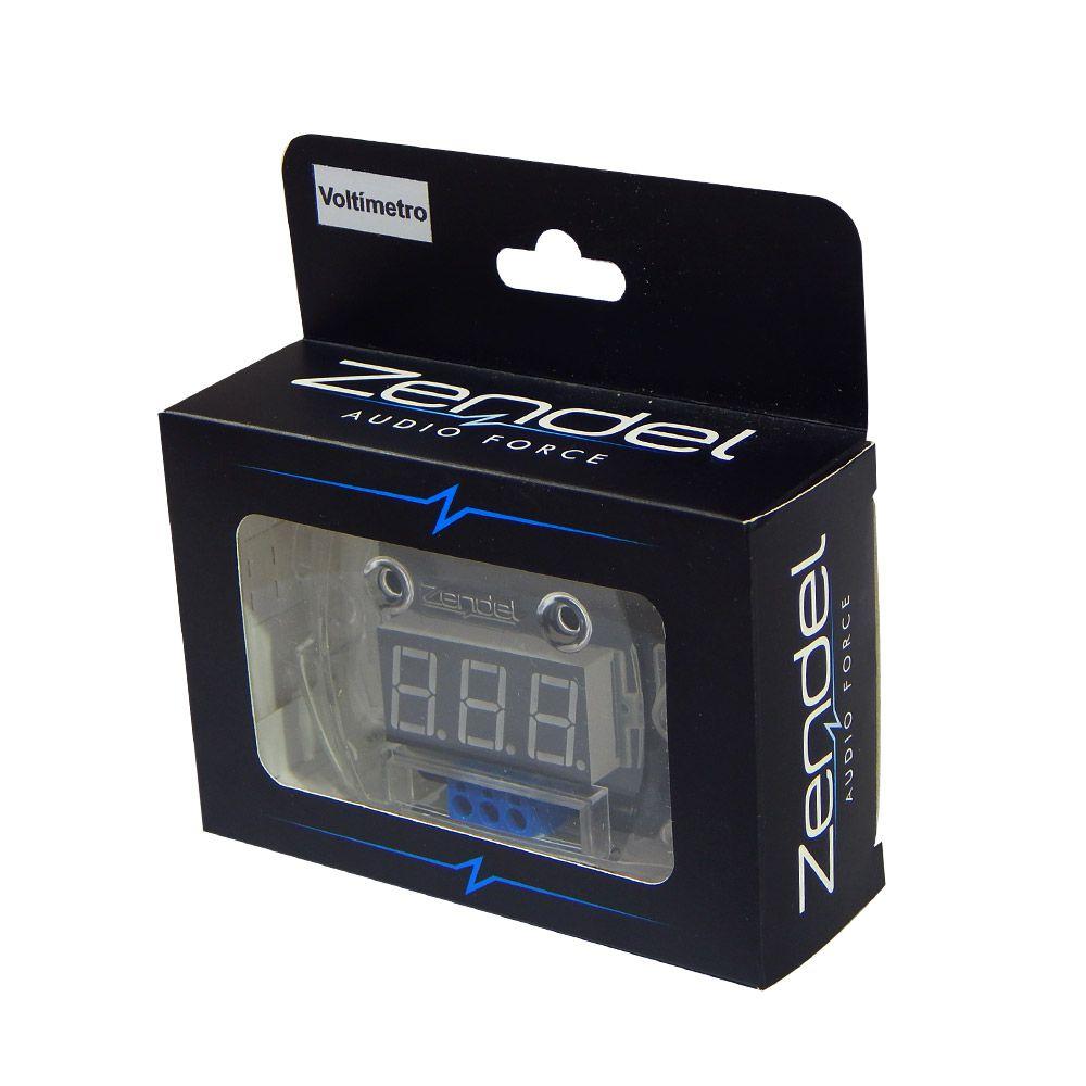 Voltímetro Digital Zendel 12V Led Vermelho