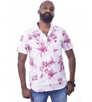 Camisa Floral Stun Manga Curta