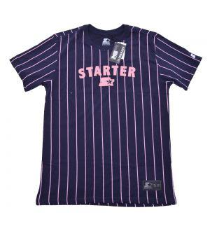 Camiseta Listrada Rose Starter