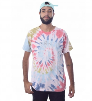 Camiseta Tie Dye The Rocks Manga Curta