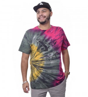 Camiseta The Rocks Tie Dye Manga Curta