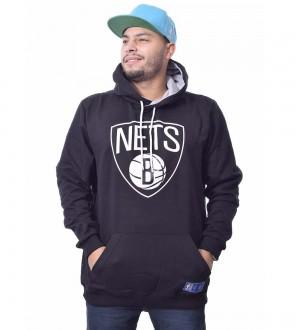 Moletom Flanelado Canguru  NBA Brookly Nets