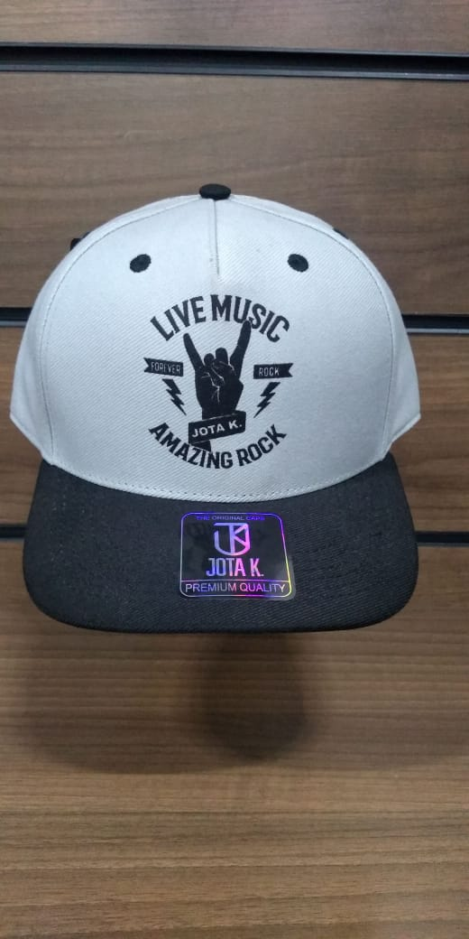 Boné Live Music Snapback  Aba Curvada Jota K