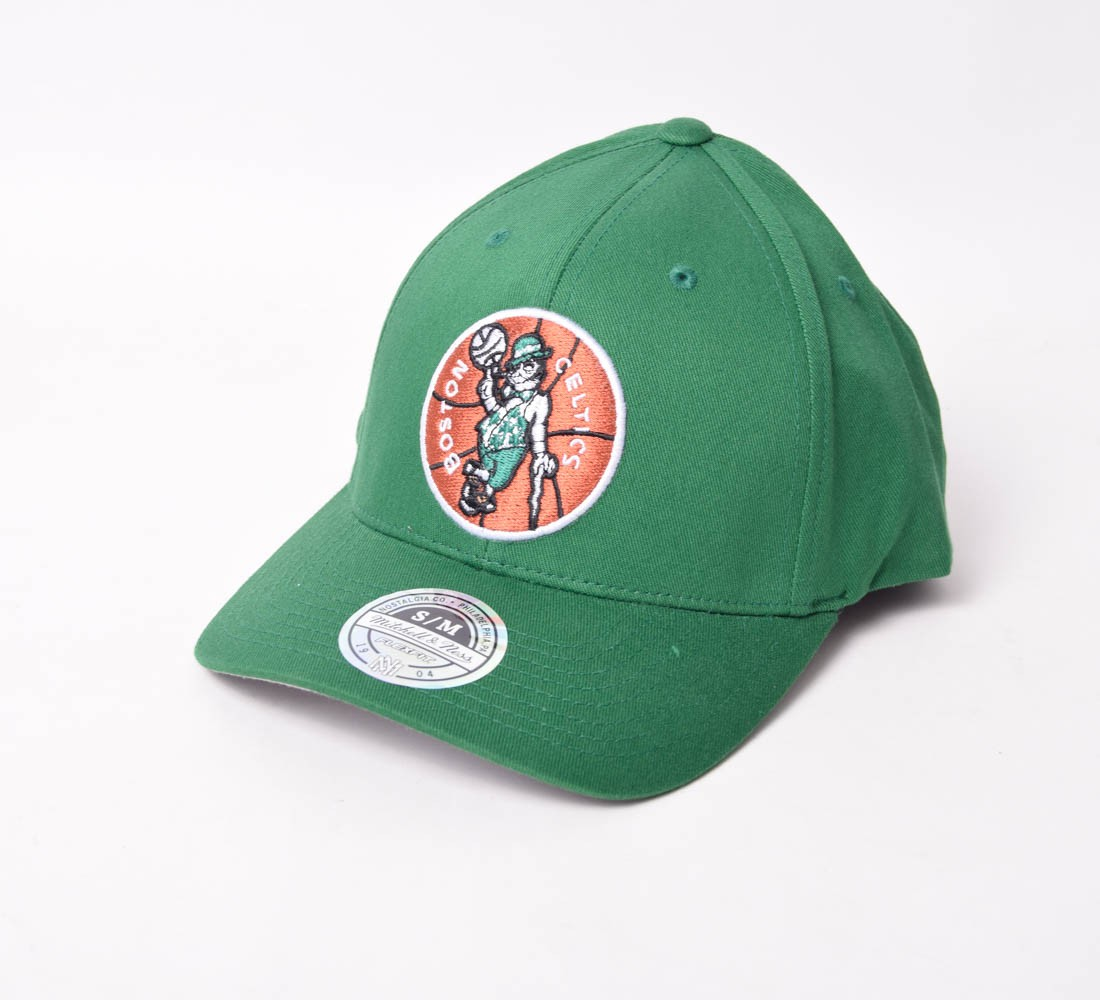 Boné Fechado Mitchell & Ness Boston Celtics aba curva
